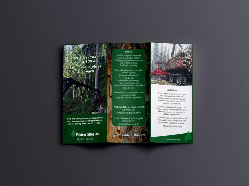 Valdres Skog AS, brosjyre