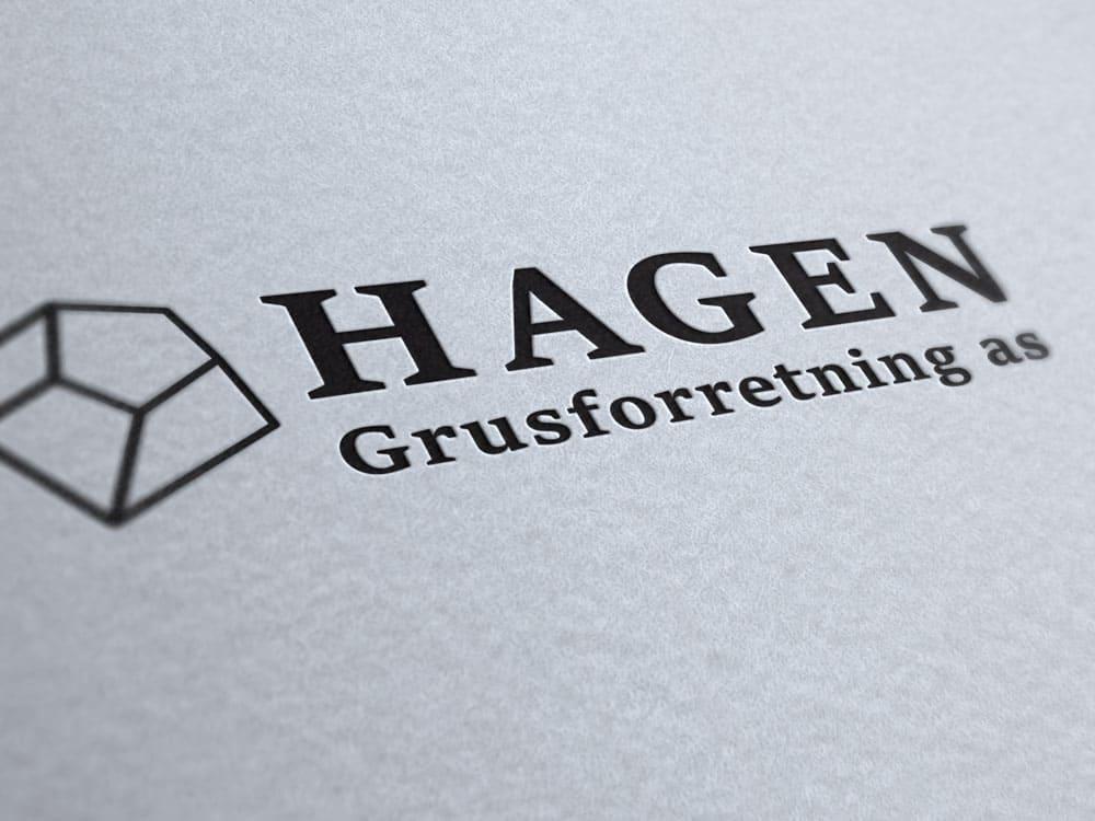 Hagen Grusforretning AS, logo