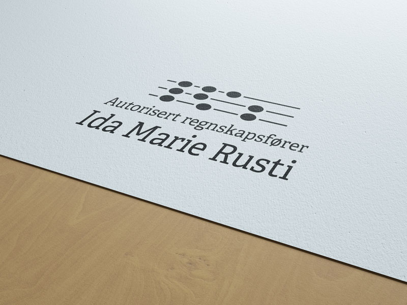 Autorisert regnskapsfører Ida Marie Rusti, logo