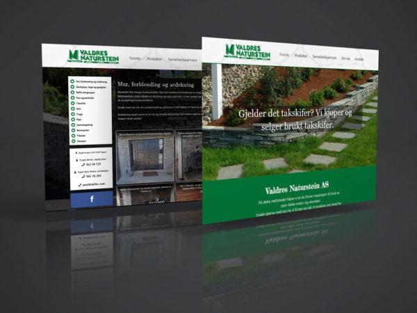 Valdres Naturstein AS, ny nettside