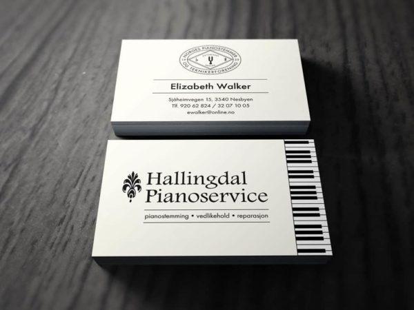 Visittkort for Hallingdal Pianoservice - Elizabeth Walker