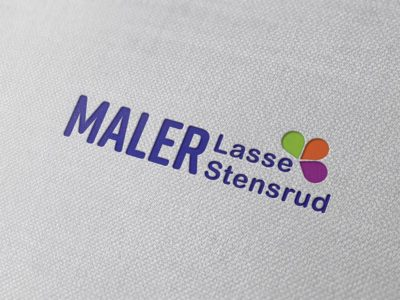 Logo Maler Lasse Stensrud AS, mockup