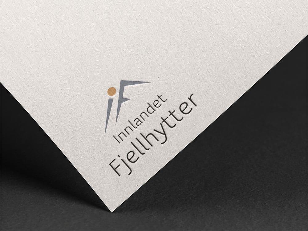 Mockup av logoen til Innlandet Fjellhytter