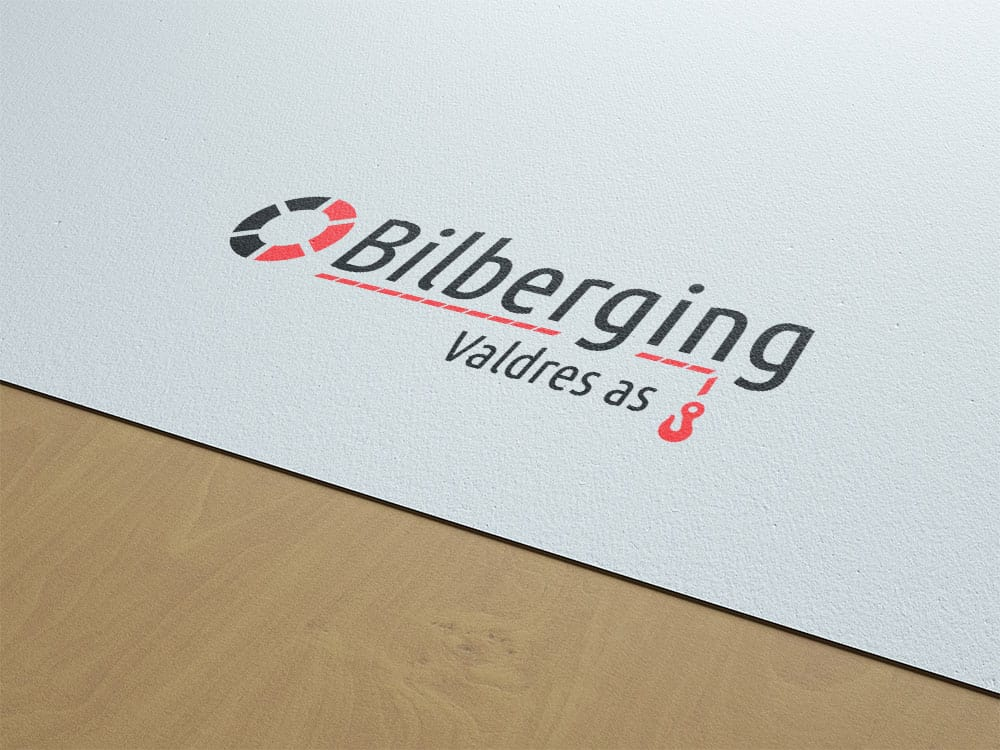 Mockup av ny logo for Bilberging Valdres AS