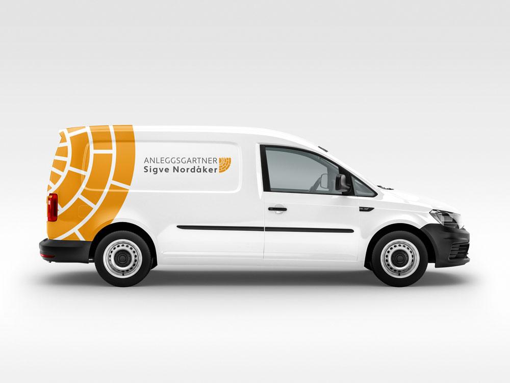 Anleggsgartner Sigve Nordåker, mockup av logo