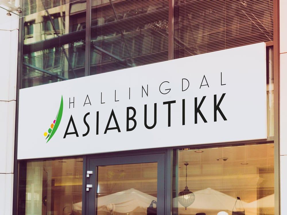 Hallingdal Asiabutikk Skilt-logo